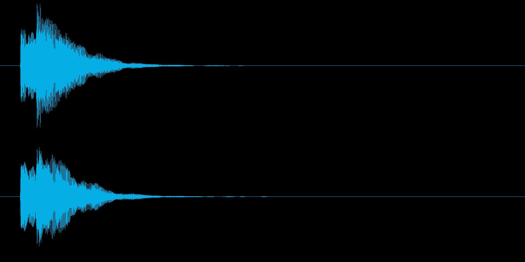 チャリンという決済音/コインの音(低音)の再生済みの波形