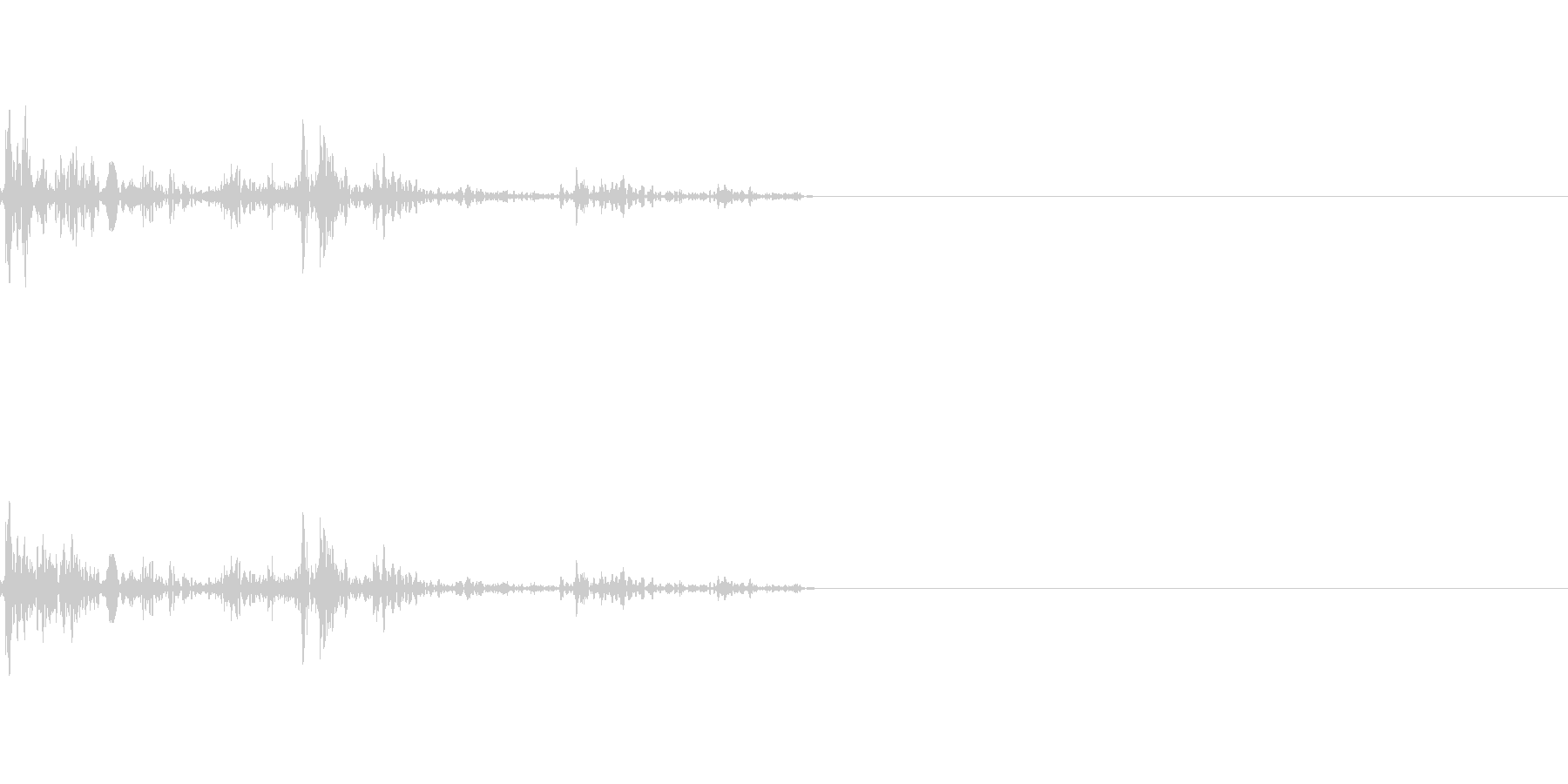 ガブッ(かみつく音)の未再生の波形