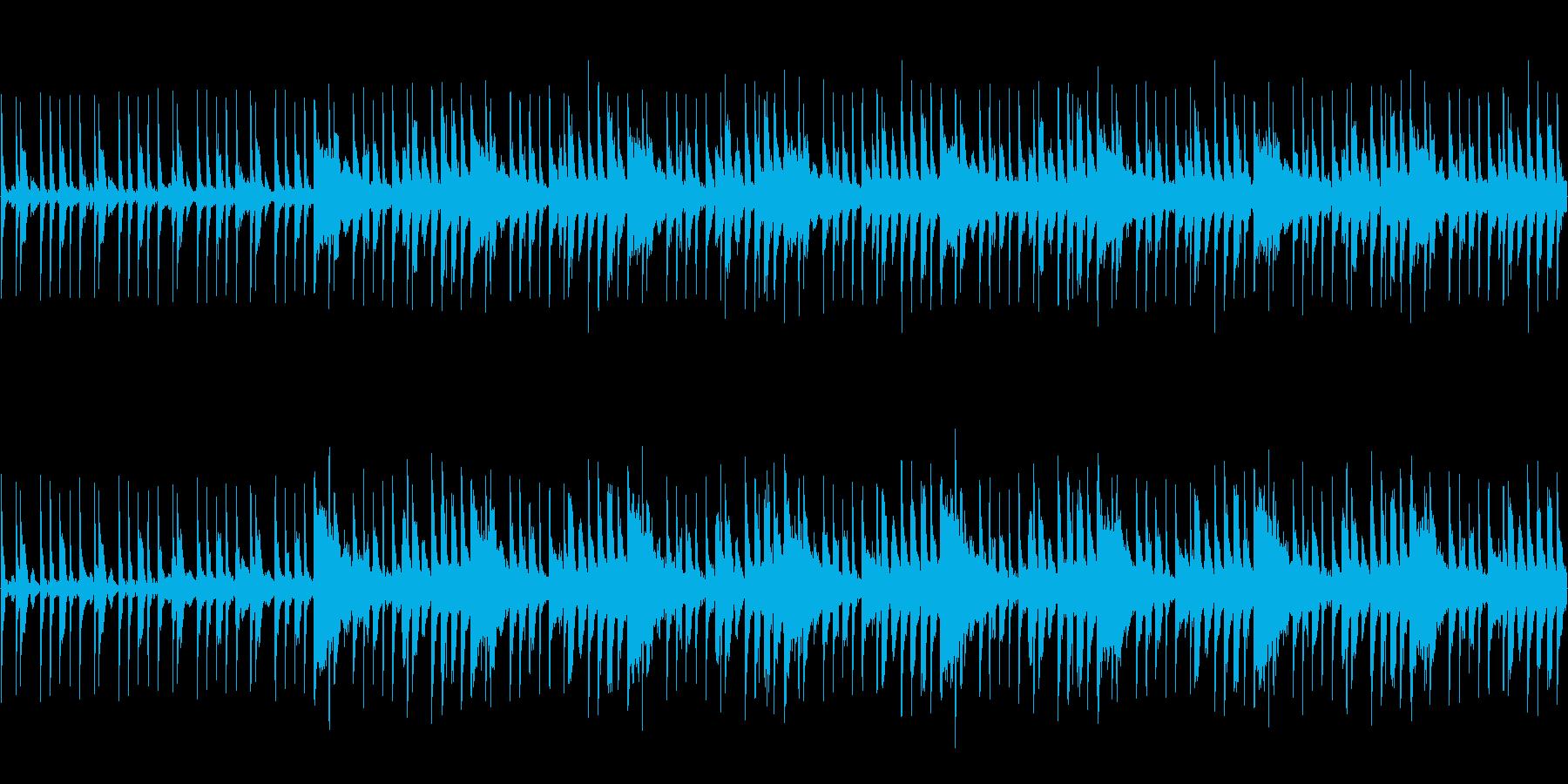 コミカルで明るい雰囲気BGMの再生済みの波形