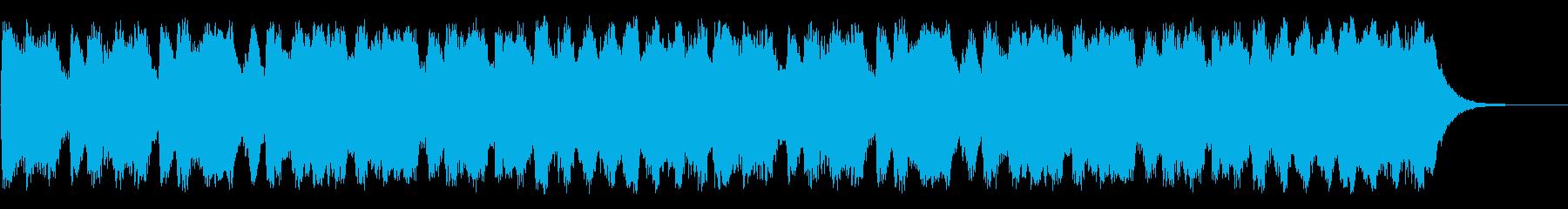 RPGの草原を歩くイメージのオーケストラの再生済みの波形
