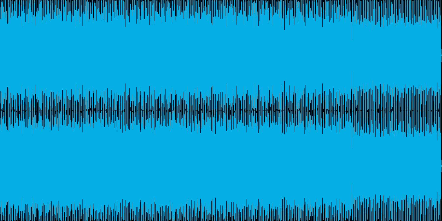 水面下・洞窟の暗いディープハウス楽曲の再生済みの波形