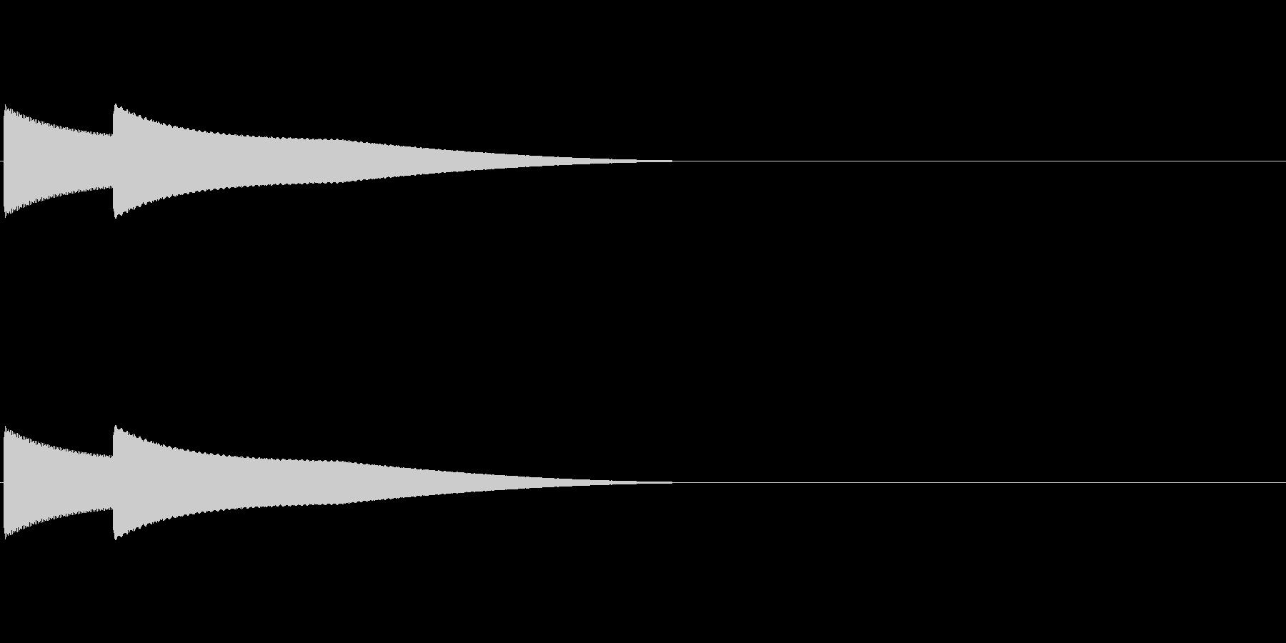 正解(ピコーン)の未再生の波形