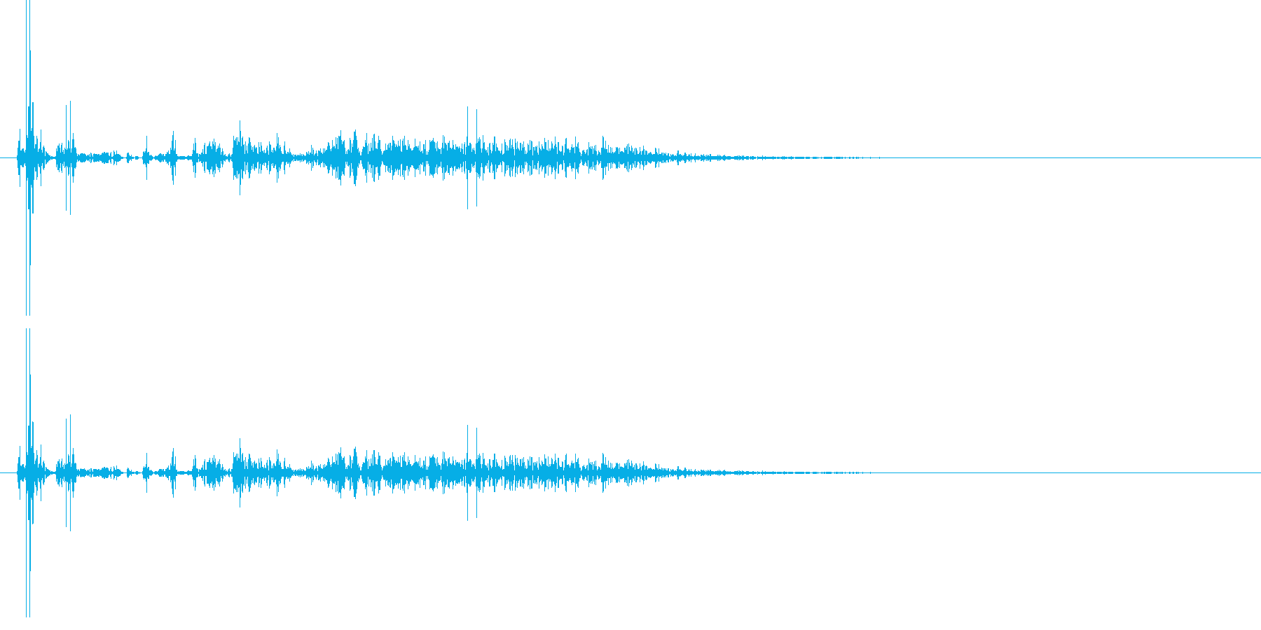 遠方の砲撃音 2の再生済みの波形