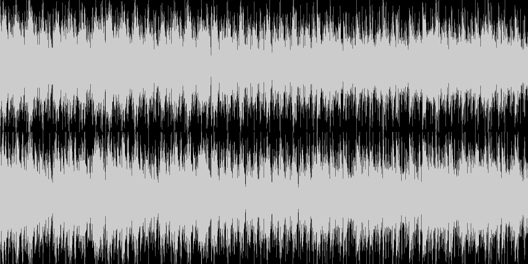 ハープとピアノの旋律が印象的なBGMの未再生の波形