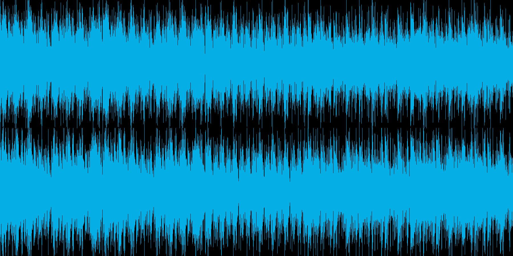 ハープとピアノの旋律が印象的なBGMの再生済みの波形