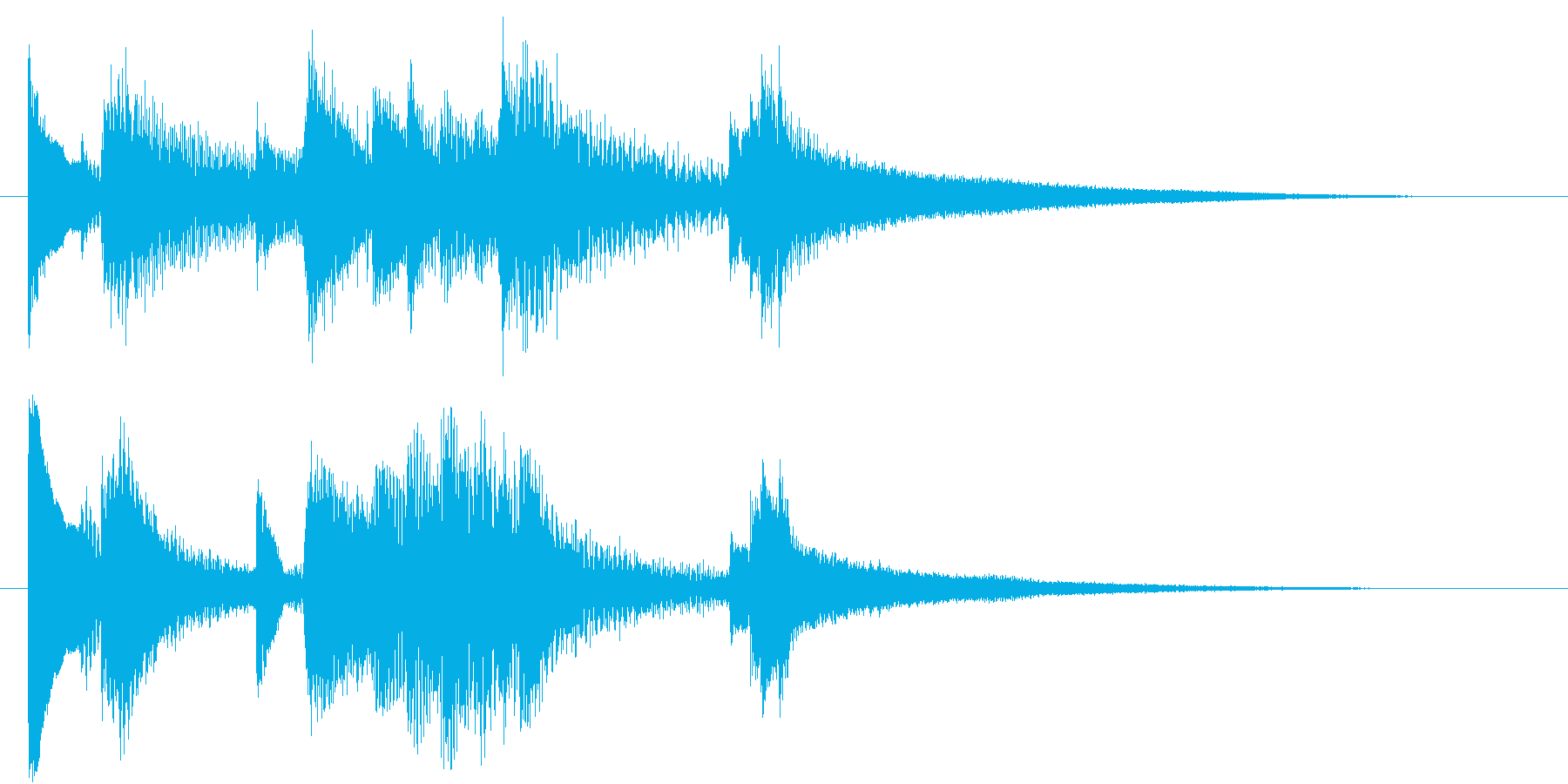 ジャズピアノ風サウンドロゴ の再生済みの波形
