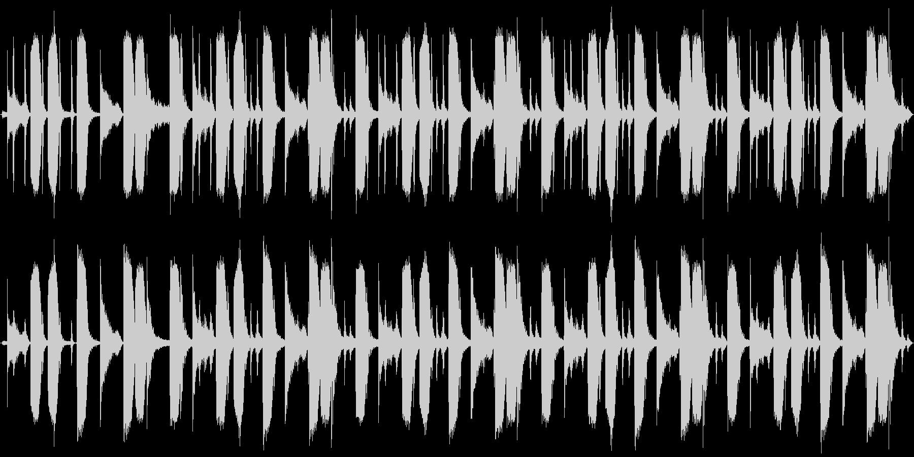 細かいリズムのドラムンベースの未再生の波形