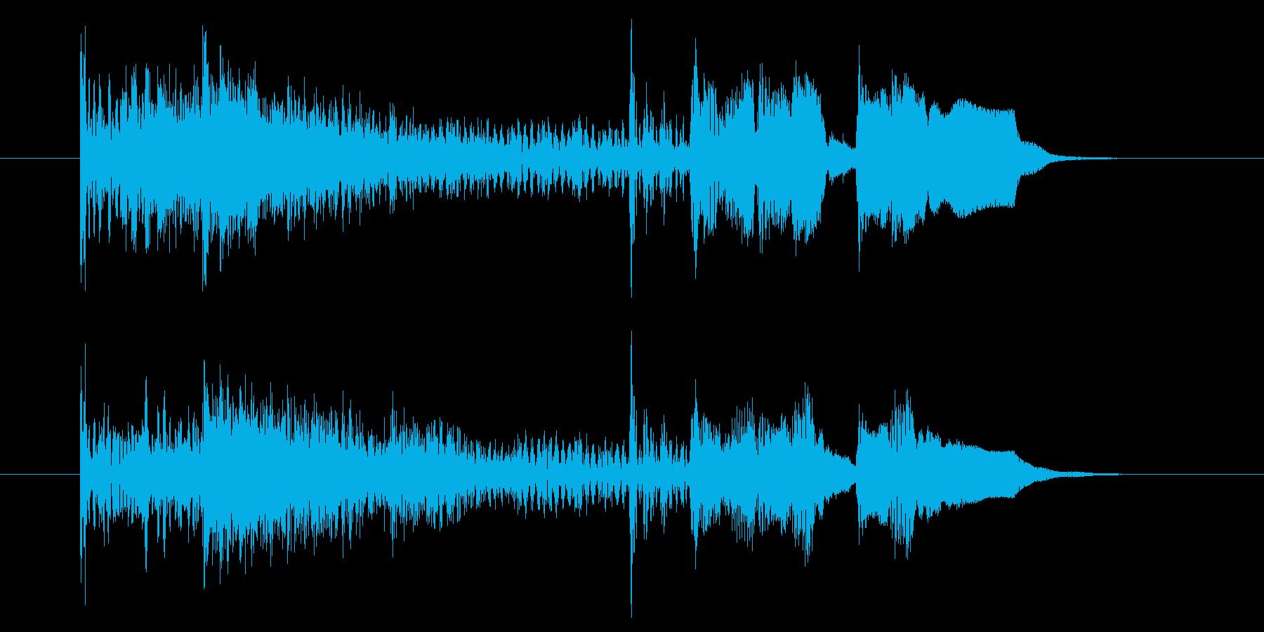 ドラムロール→パンパカパーン!の再生済みの波形