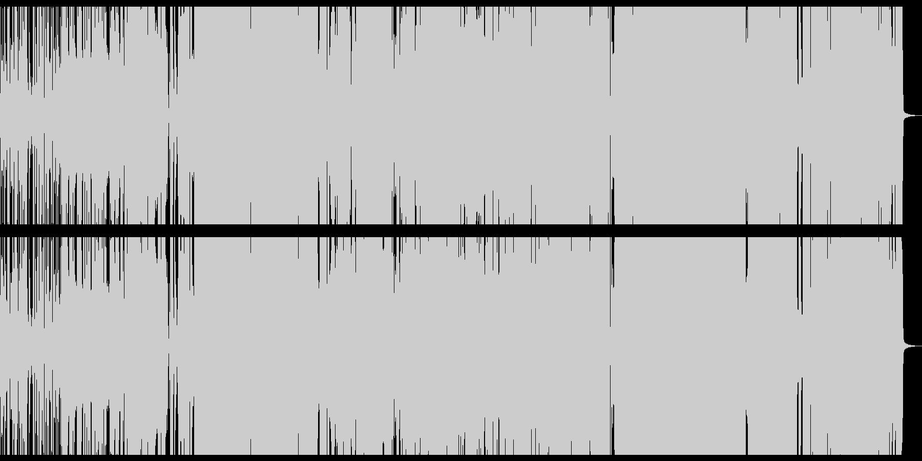 アニソン系のかわいいロックポップチューンの未再生の波形