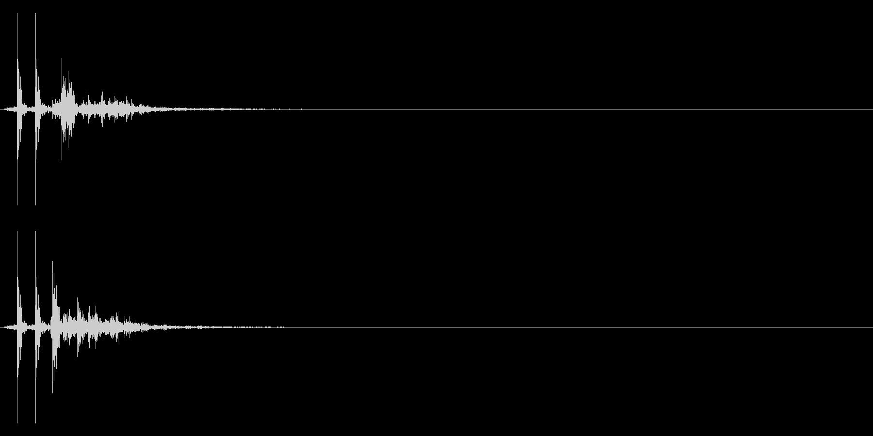 コッ!決定/ボタン/クリック効果音!04の未再生の波形