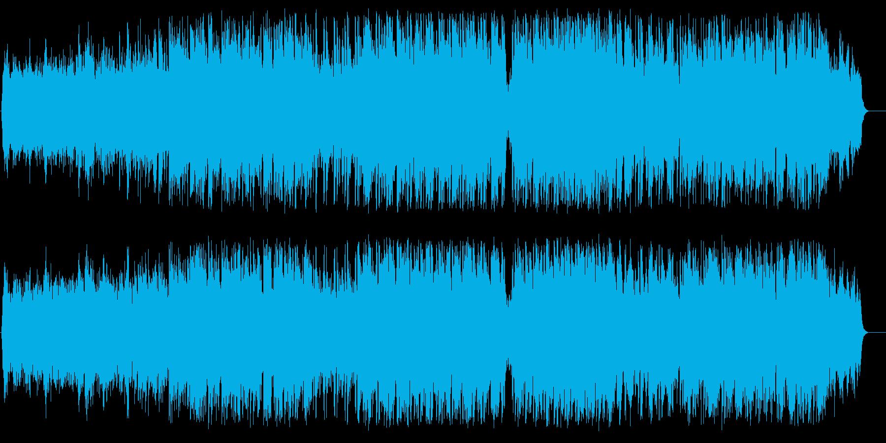 グライダーから眺める白とブルーの世界の再生済みの波形