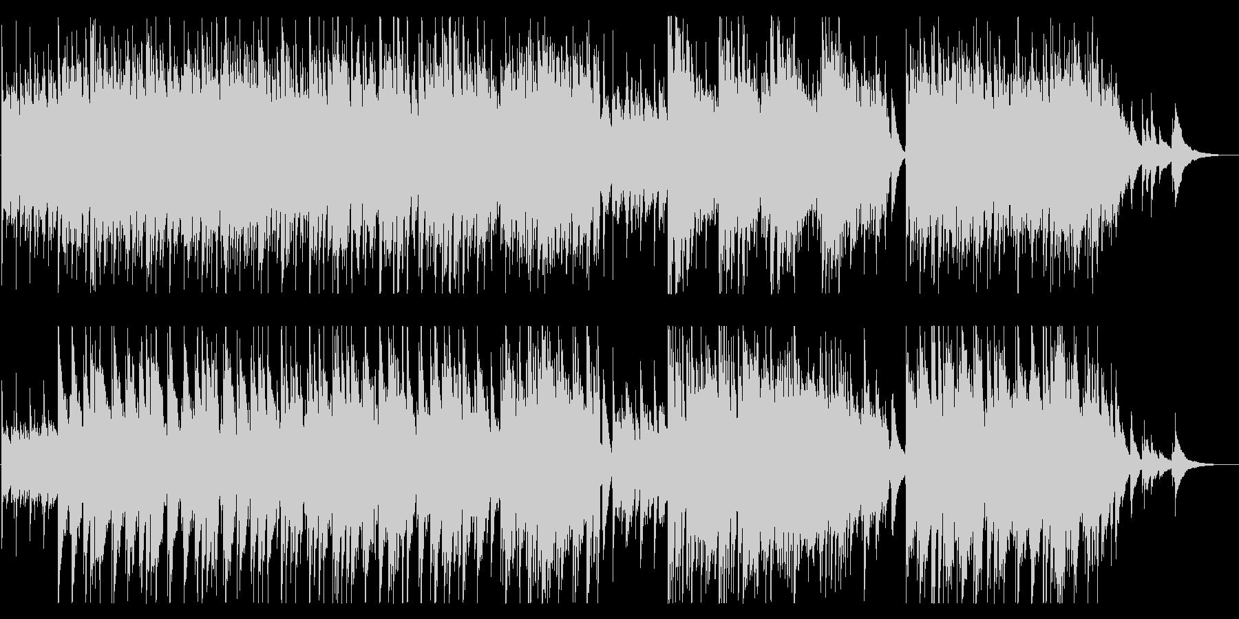 のどかで透明感のあるフォークギター曲の未再生の波形