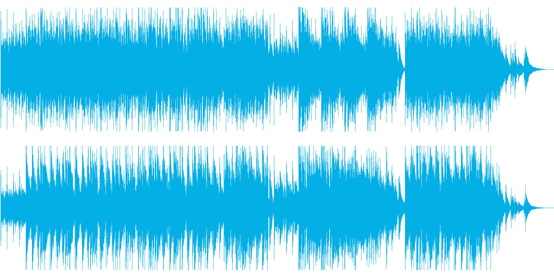 のどかで透明感のあるフォークギター曲の再生済みの波形