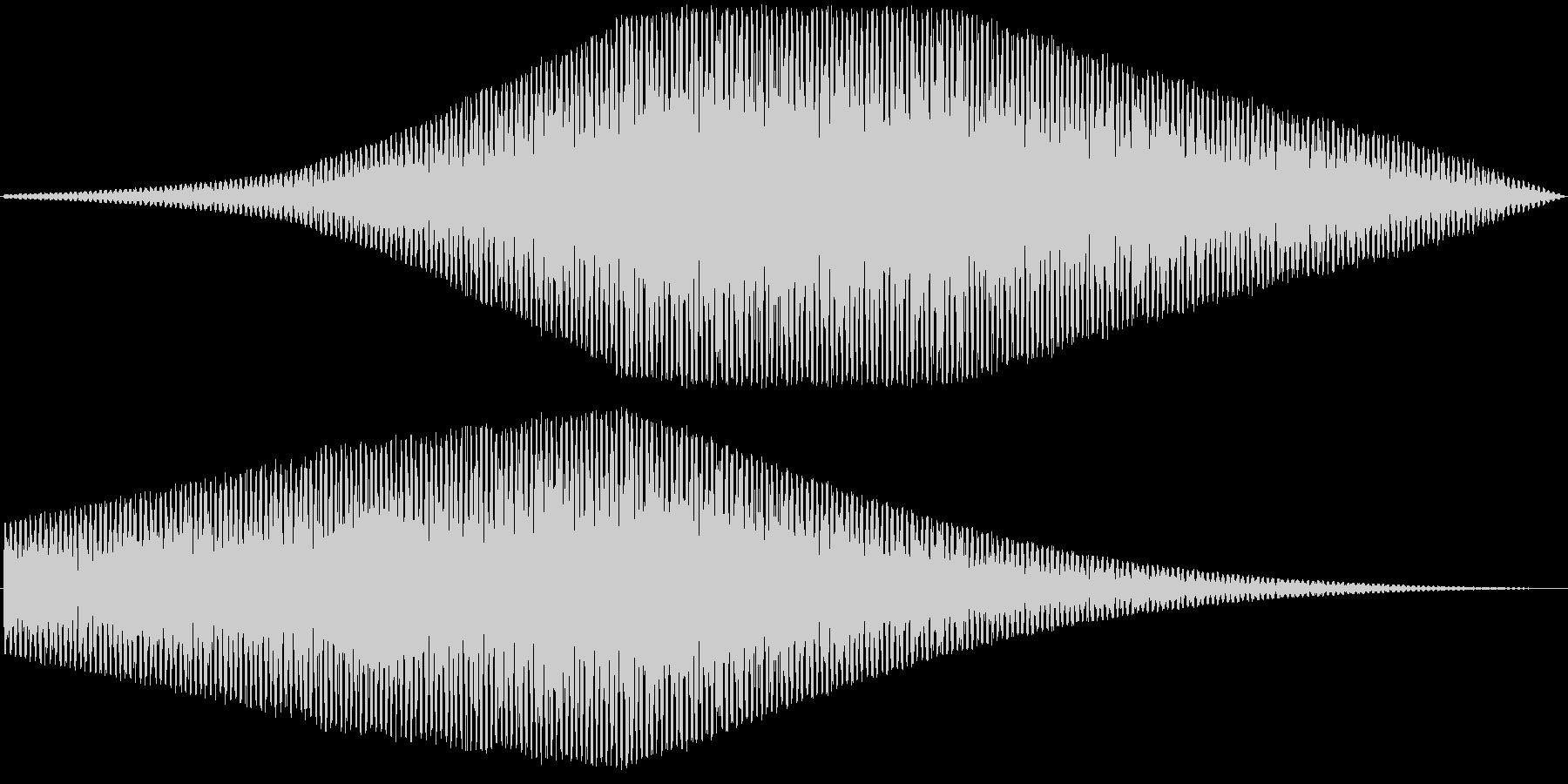 ヘリコプター、右左の未再生の波形