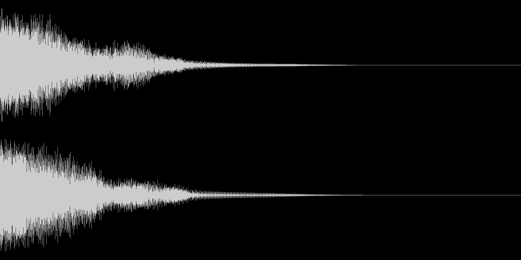 チュゥゥゥンの未再生の波形