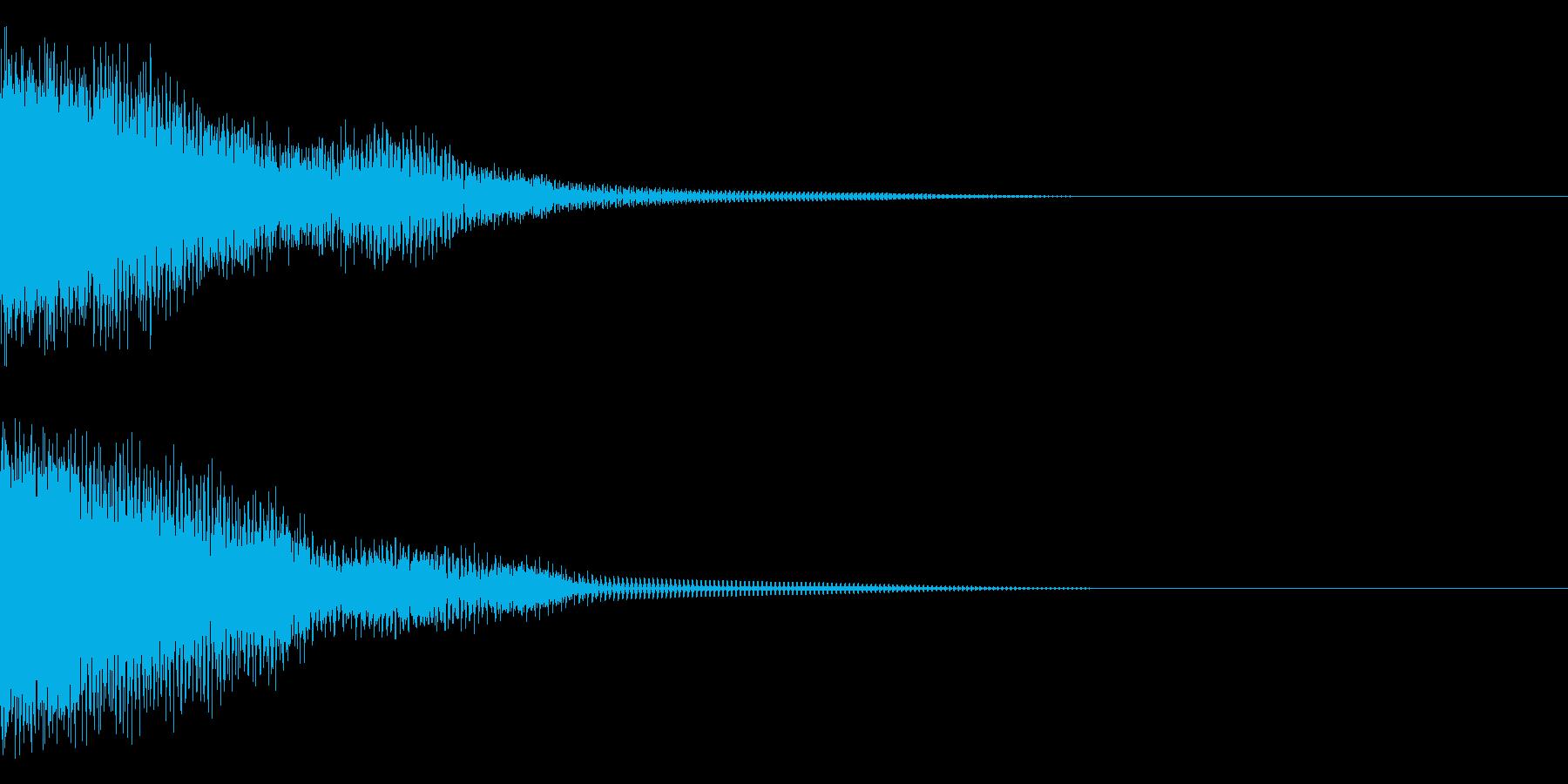 チュゥゥゥンの再生済みの波形