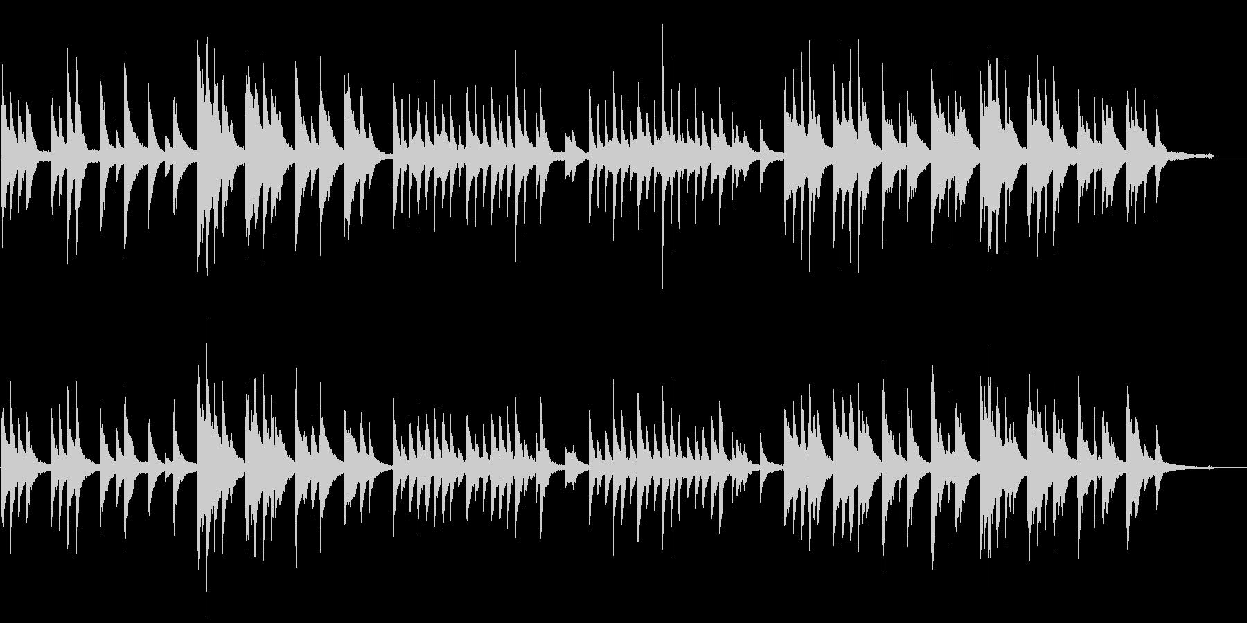 ピアノの優しい曲06の未再生の波形