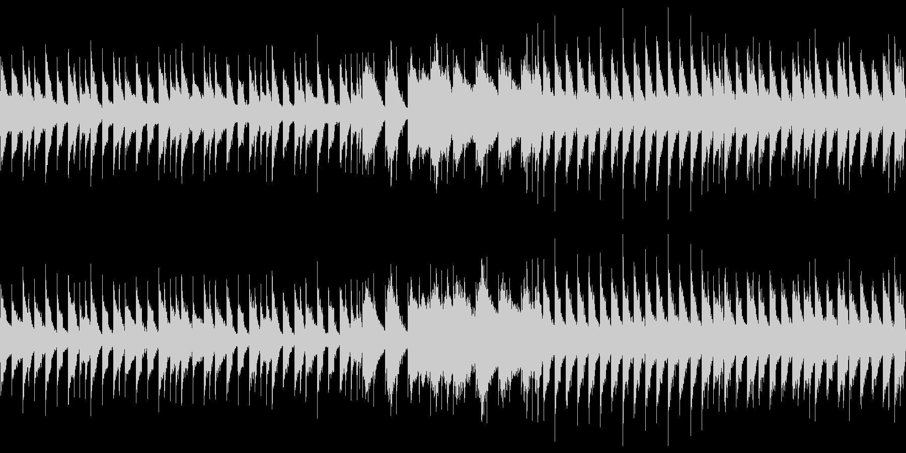 暗い雰囲気のチップチューンサウンドの未再生の波形