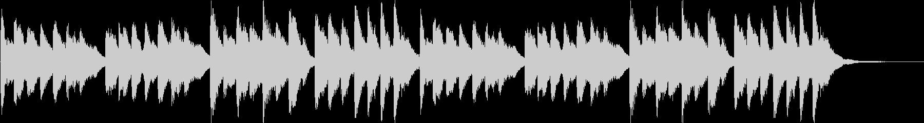 ほのぼの系チューブラーベルのジングルの未再生の波形
