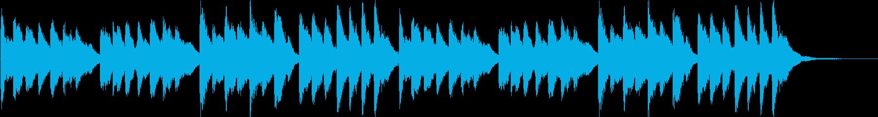 ほのぼの系チューブラーベルのジングルの再生済みの波形