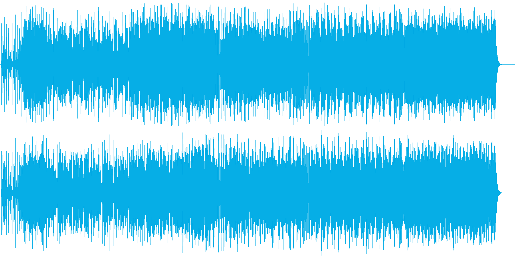 爽やかでおしゃれなアコギBGMの再生済みの波形