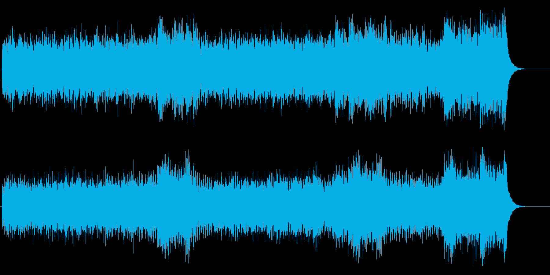 環境音楽(控えめでサイコ・チック)の再生済みの波形
