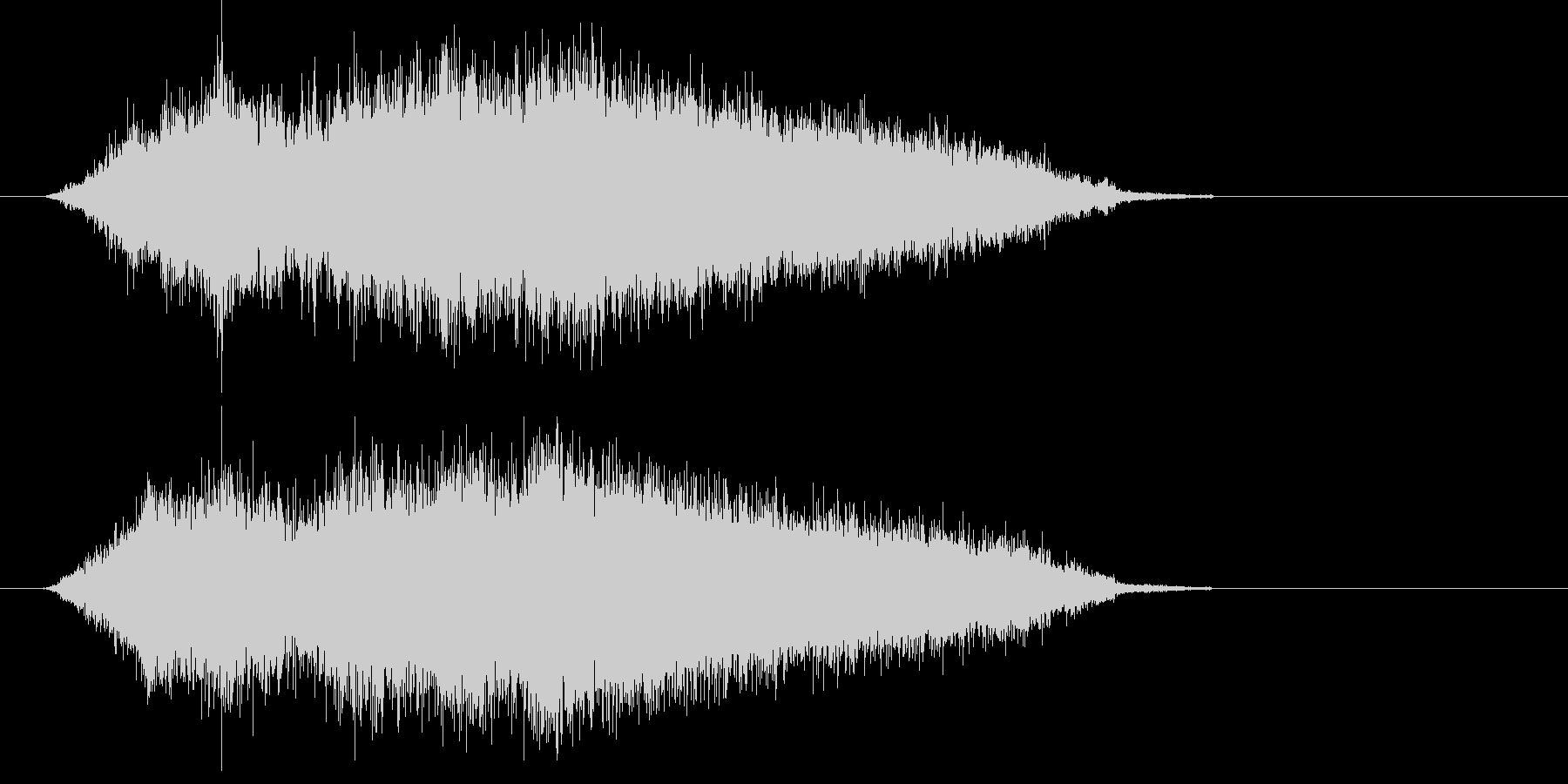 ヒューン (小型ミサイルの発射音)の未再生の波形