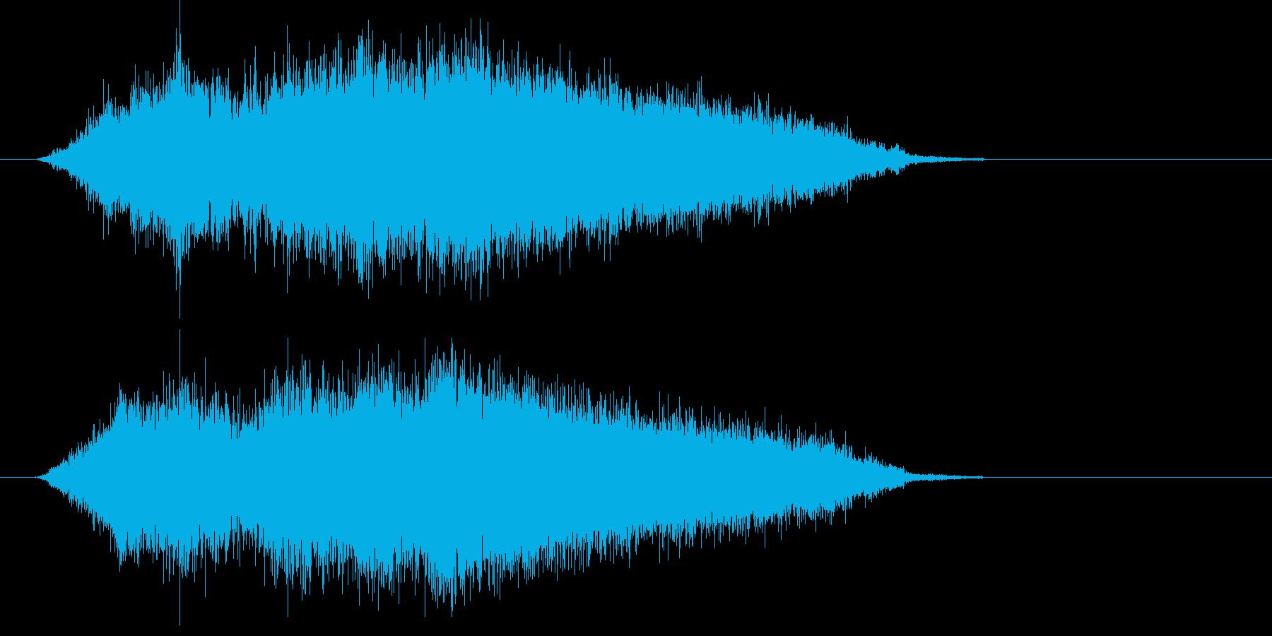 ヒューン (小型ミサイルの発射音)の再生済みの波形
