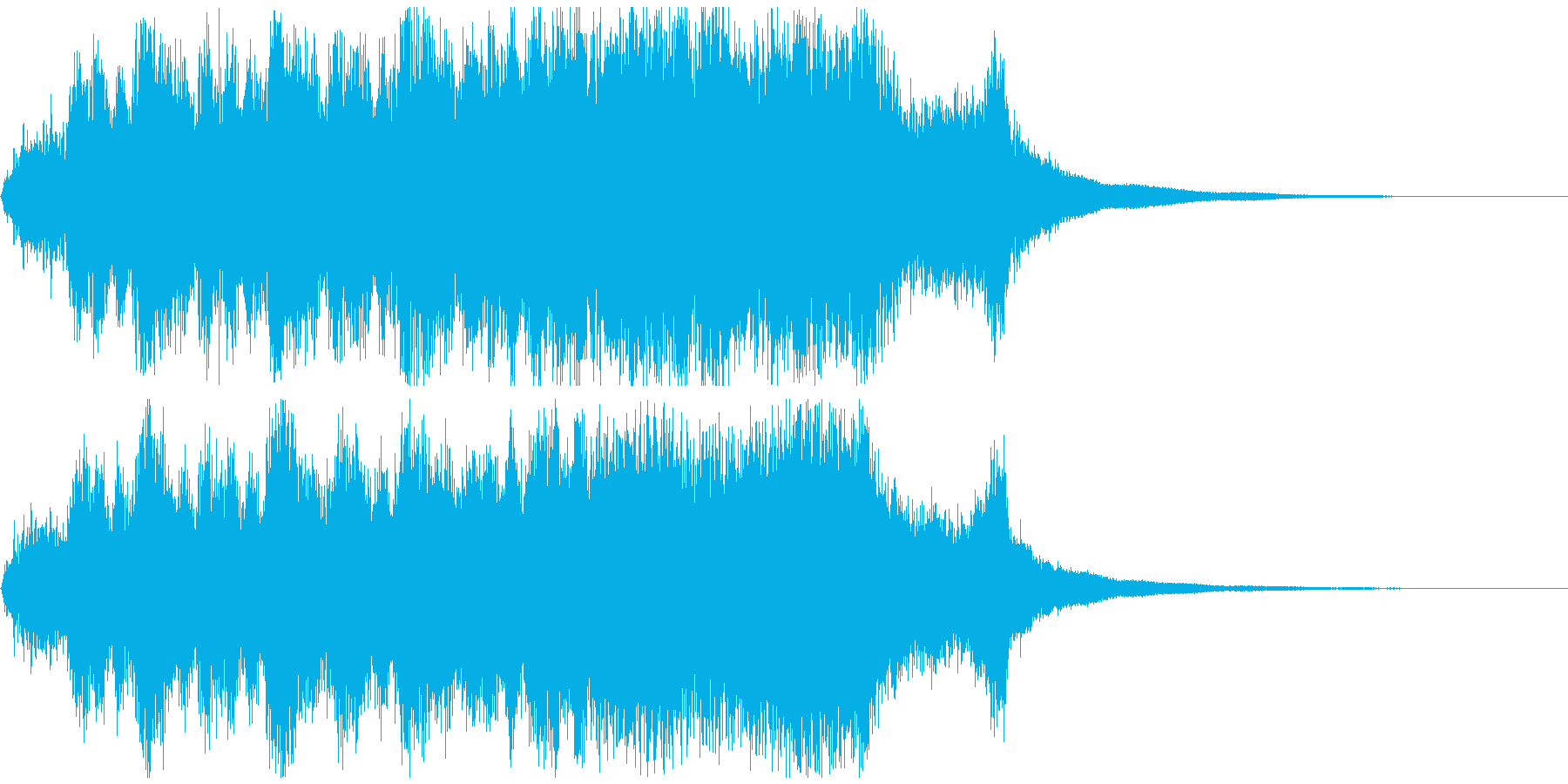 期待の結果発表などに最適ジングル約10秒の再生済みの波形