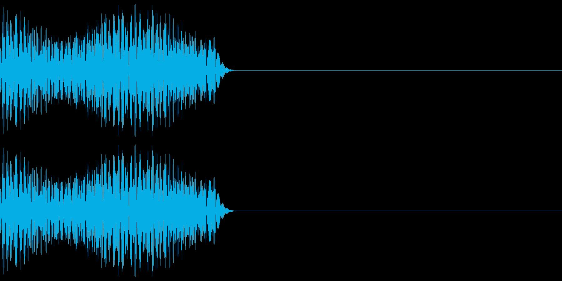 ゲーム等の禁止音「ブッ」 低めの音程の再生済みの波形