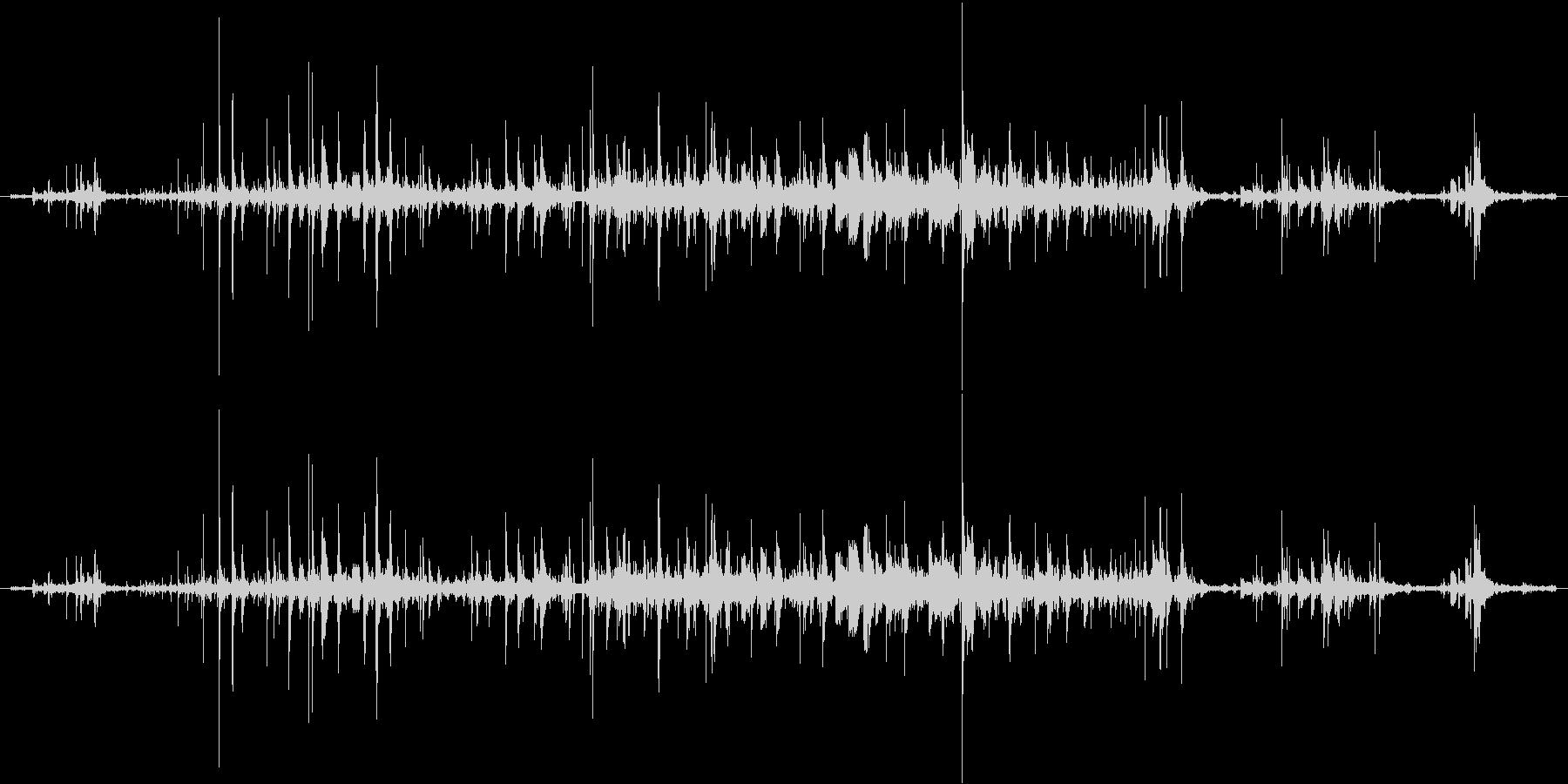ジョボジョボジョボの未再生の波形