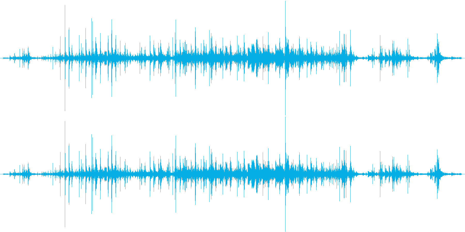 ジョボジョボジョボの再生済みの波形