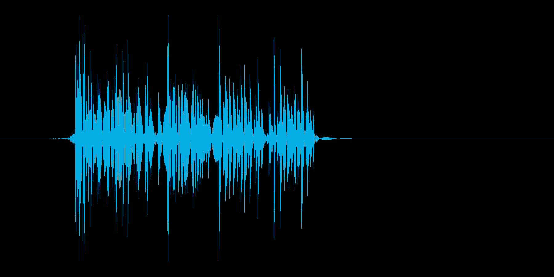 ゲーム(ファミコン風)爆発音_004の再生済みの波形