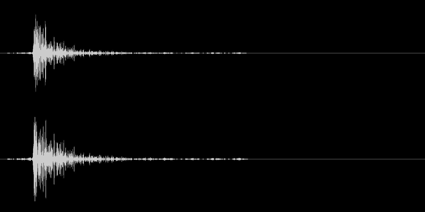 銃声(玩具)の未再生の波形