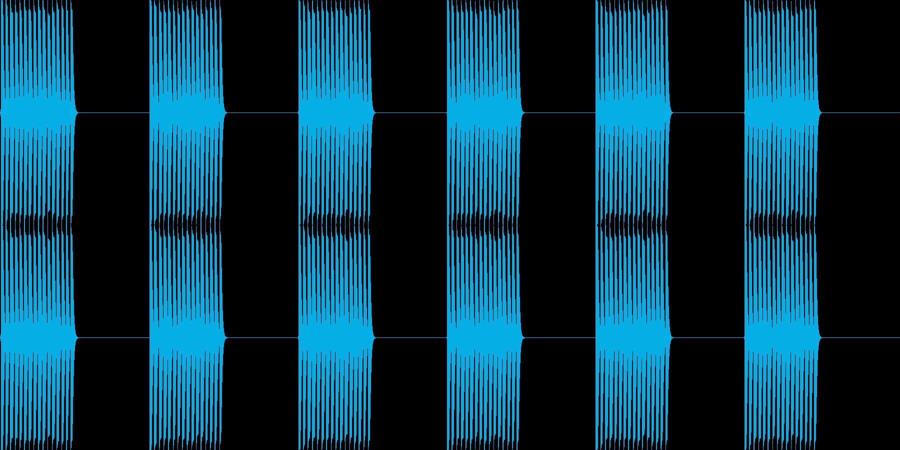 ピコピコピコピコの再生済みの波形