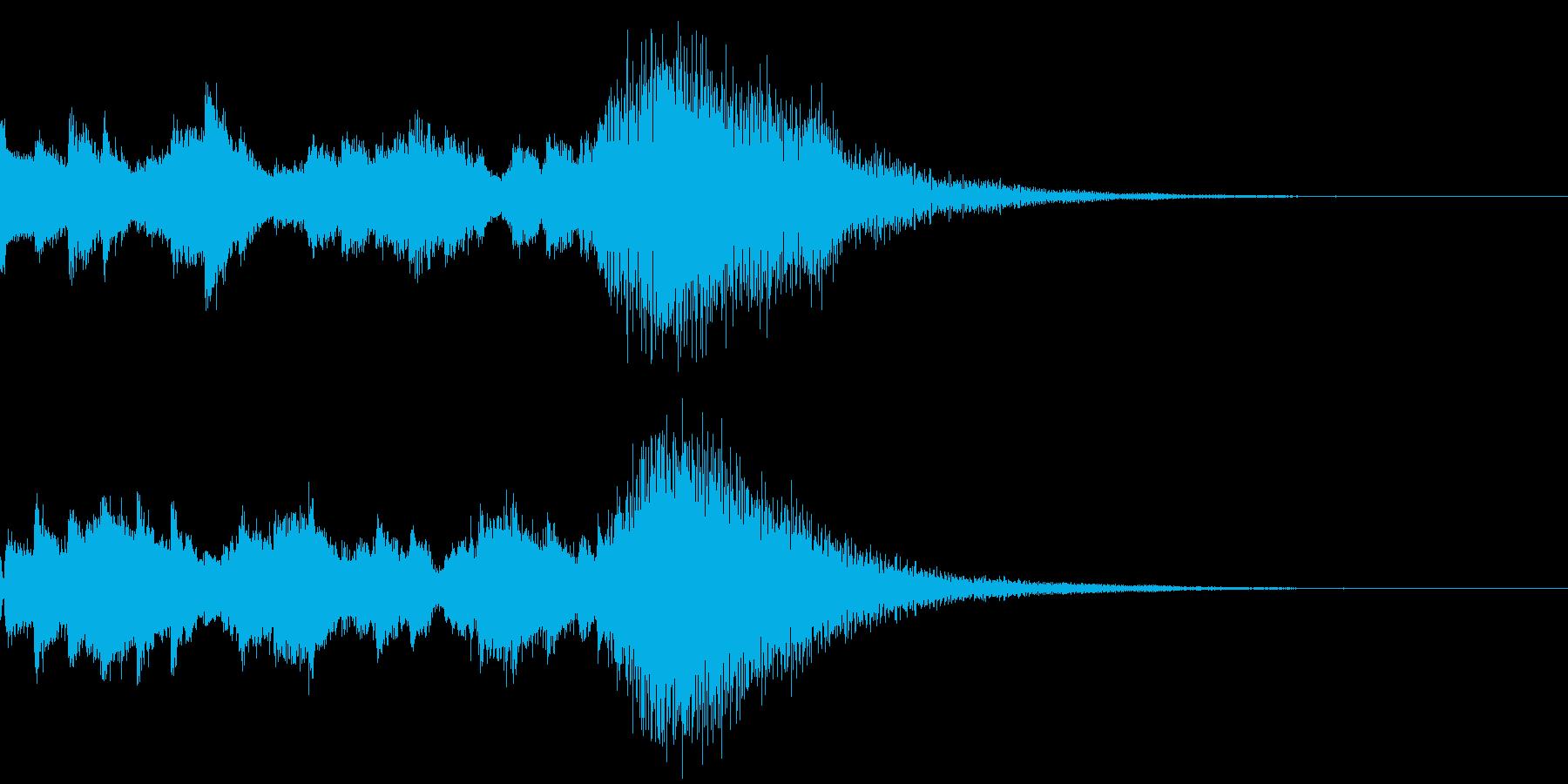 効果音 キラキラ 魔法 2の再生済みの波形