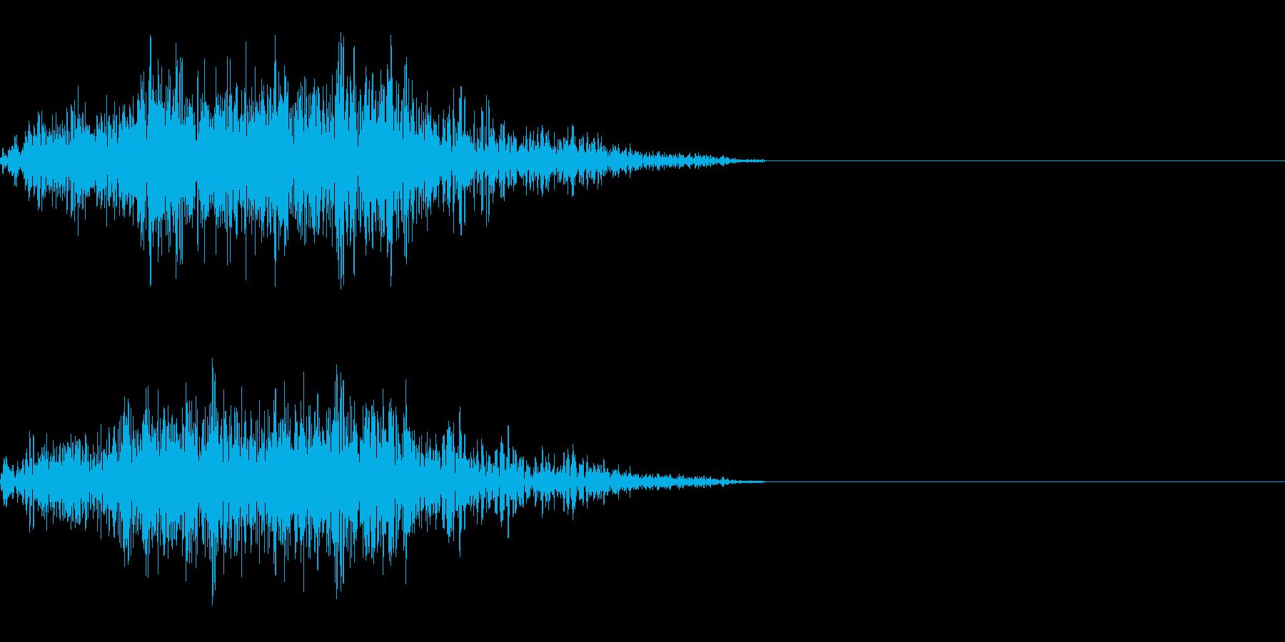 モンスターの攻撃時に 8の再生済みの波形