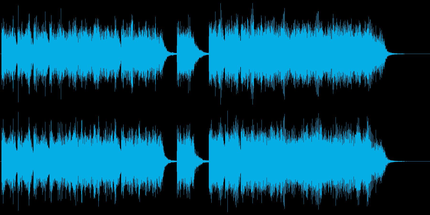 ピコピコとしたゲームのレベルアップ効果音の再生済みの波形