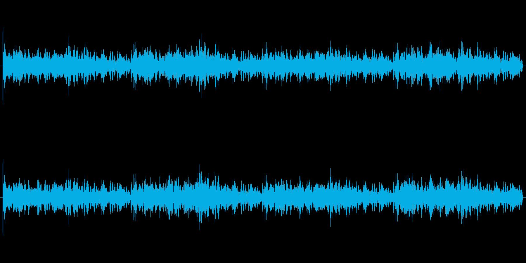 機械的テクノループの再生済みの波形