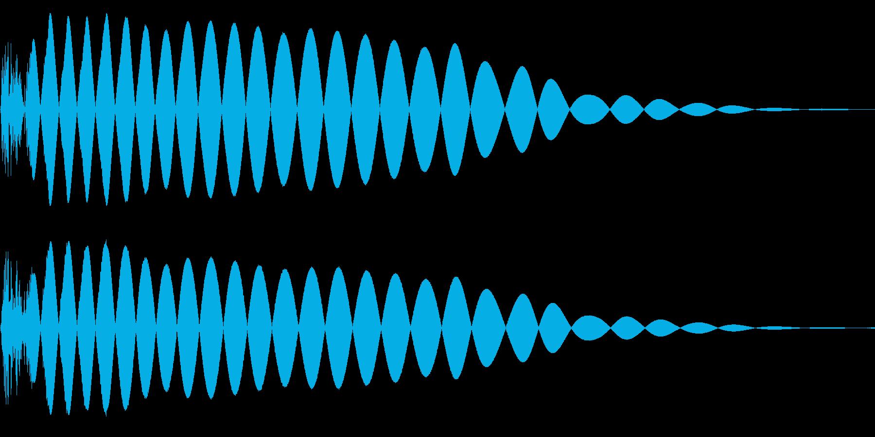 EDMやIDM系のバスドラム!05bの再生済みの波形