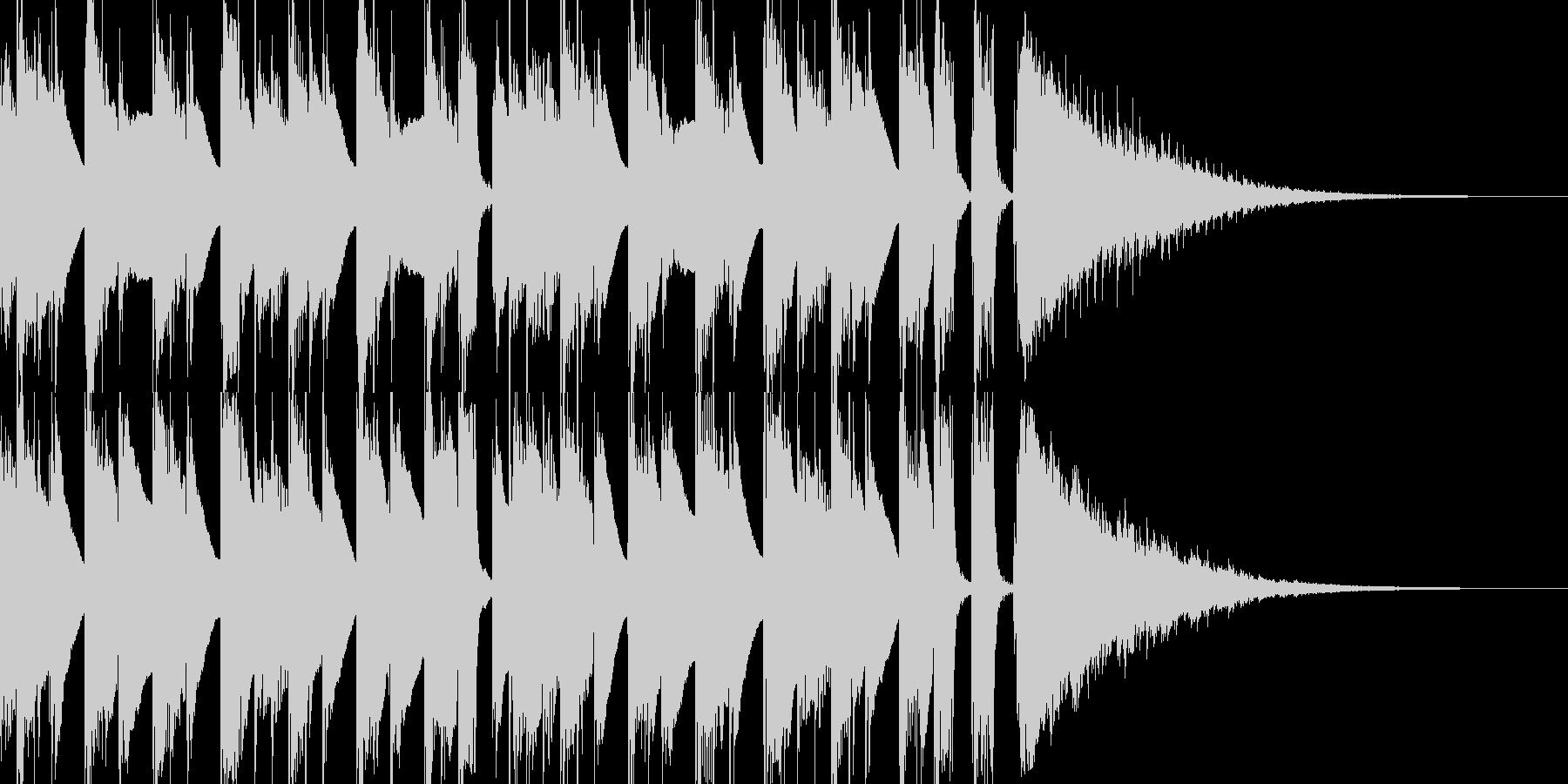 アコギ主体の穏やかで軽やかなジングルの未再生の波形