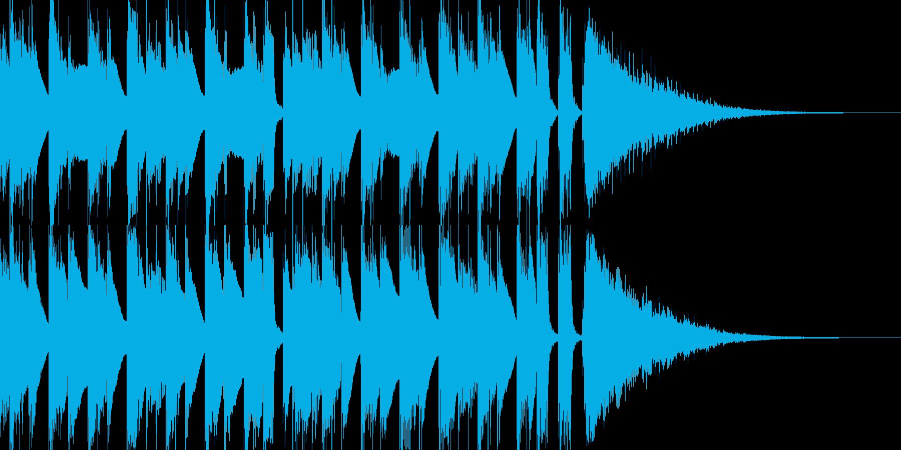 アコギ主体の穏やかで軽やかなジングルの再生済みの波形
