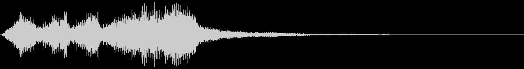ブラス系のゲームオーバー ミス 転回音の未再生の波形
