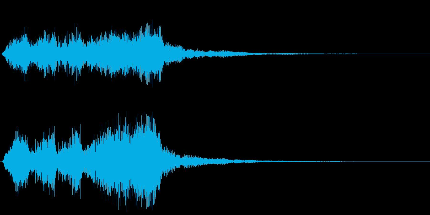 ブラス系のゲームオーバー ミス 転回音の再生済みの波形