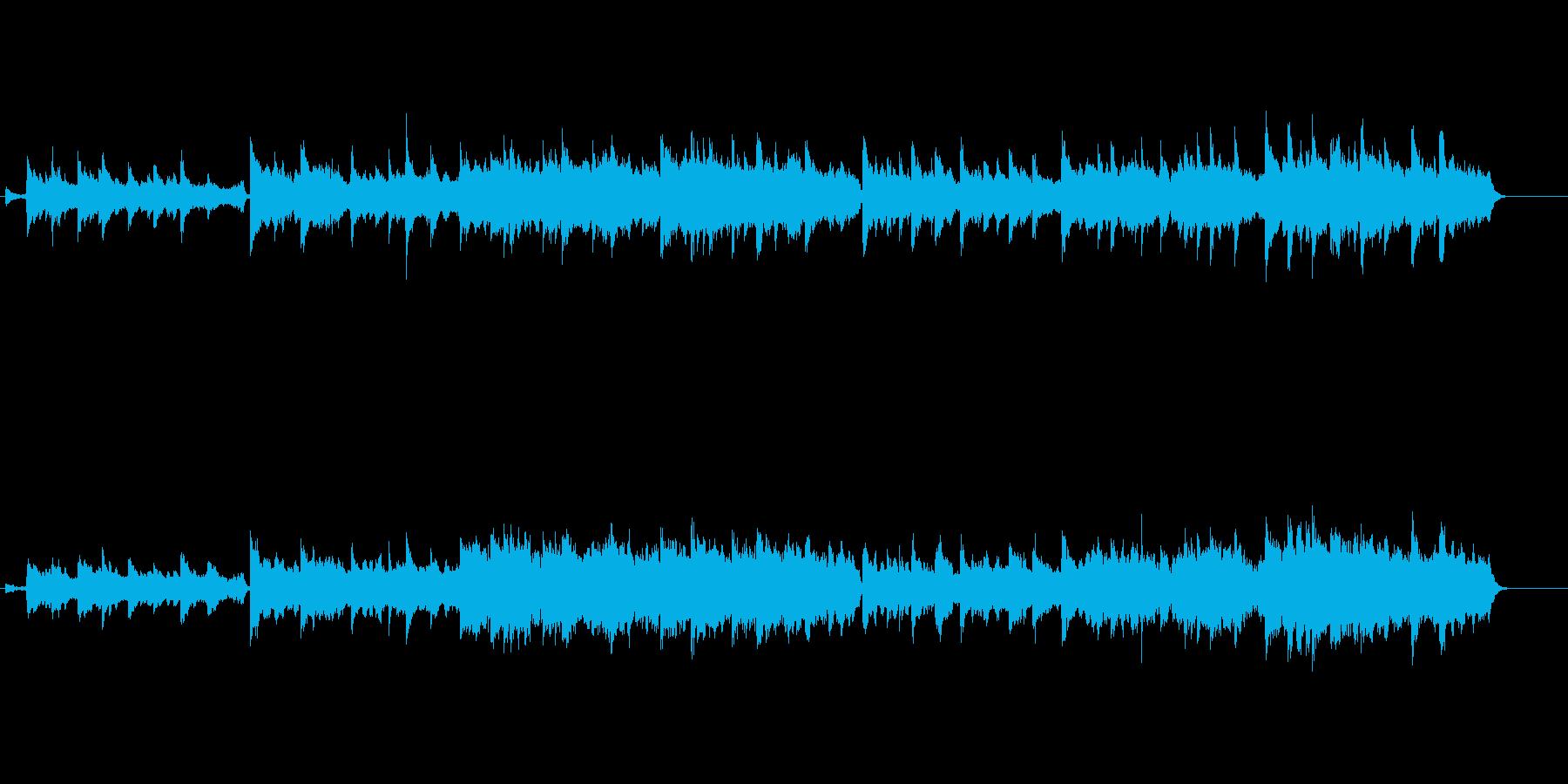 荘厳なピアノとストリングスの調べの再生済みの波形