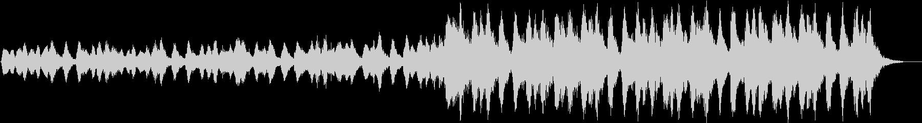 弦楽器のみの緊迫したBGMの未再生の波形