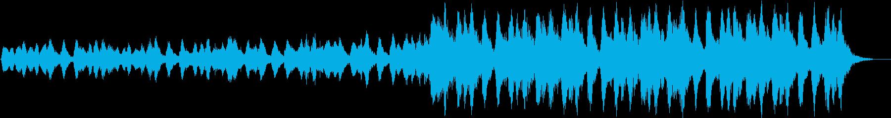 弦楽器のみの緊迫したBGMの再生済みの波形