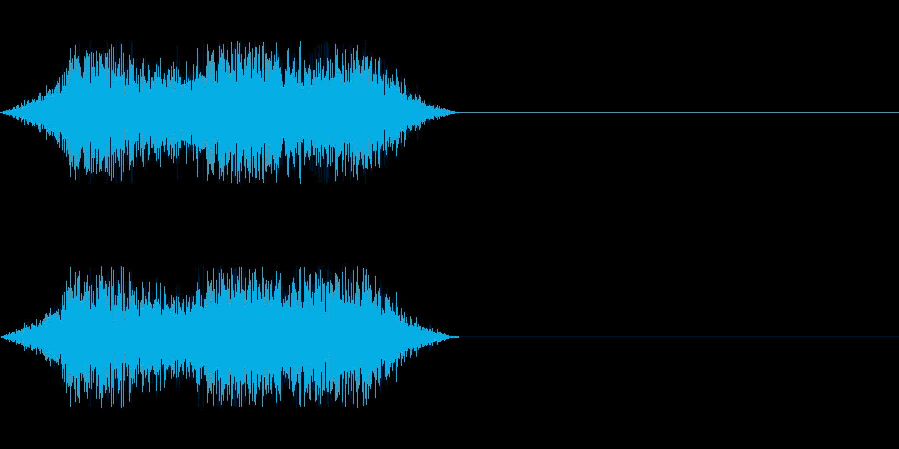 モンスターのアタック時に(魔法の前等に)の再生済みの波形