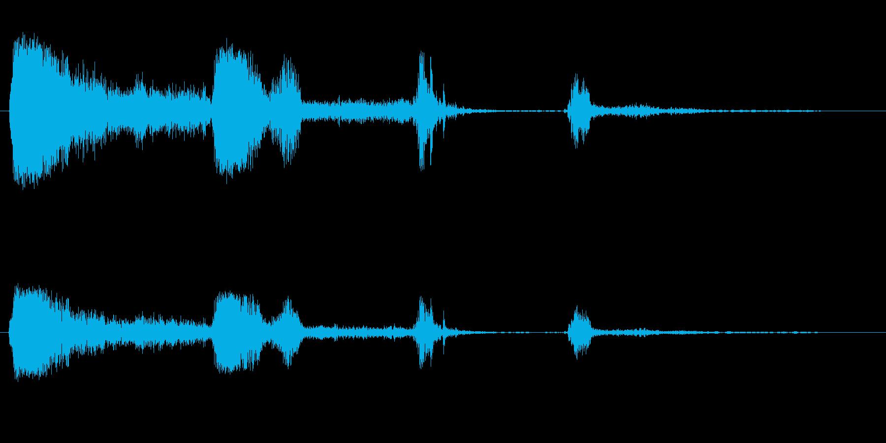 オッホッホッホ(笑い声のような咳)の再生済みの波形