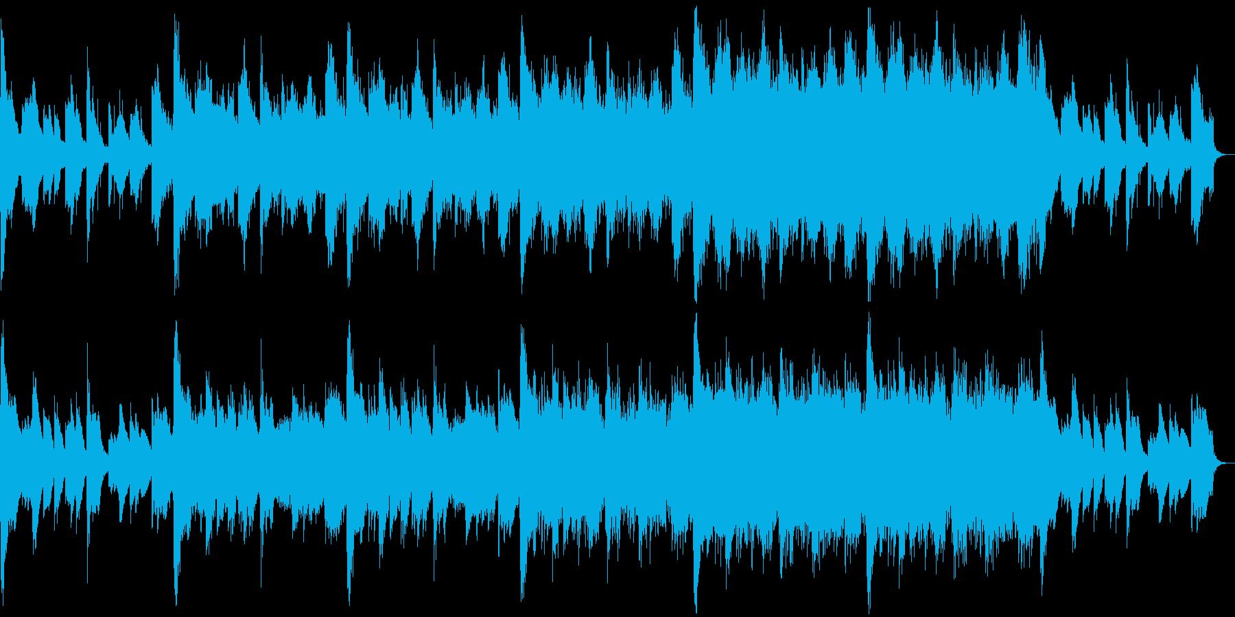 ホラーやファンタジー系のRPGのBGM…の再生済みの波形